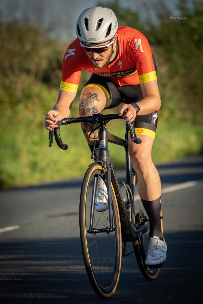 BNECC Ride Paul riding his road bike in a 2020 event